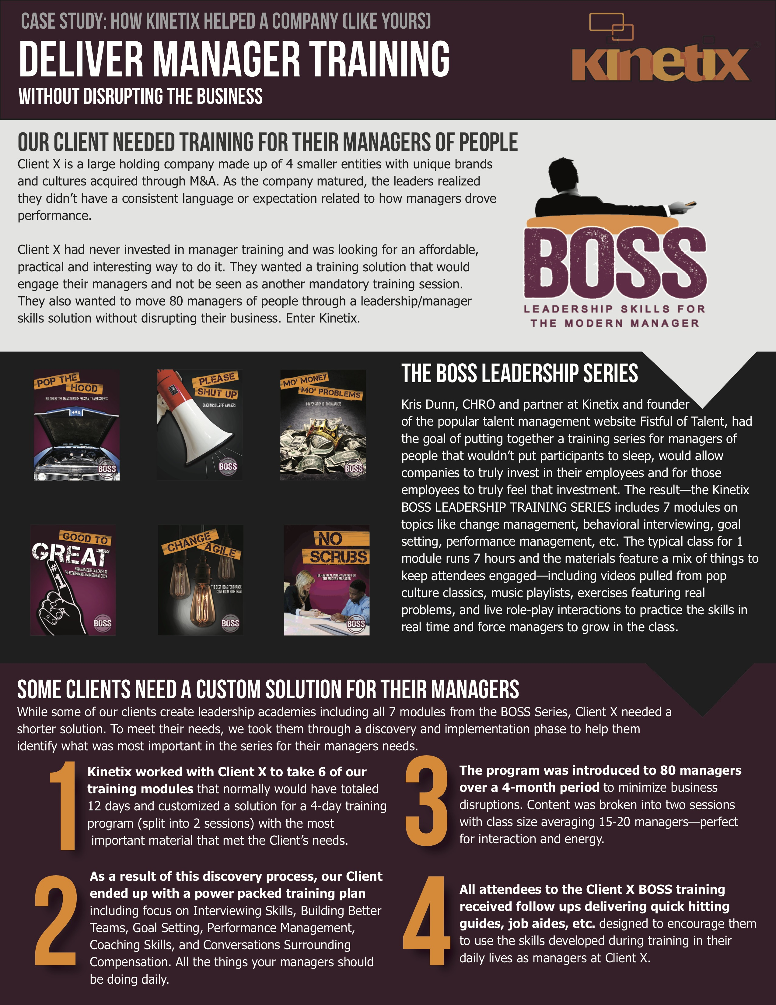 BOSS Management Sample Page